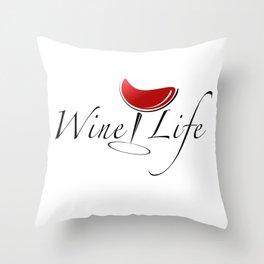 Wine Life Throw Pillow