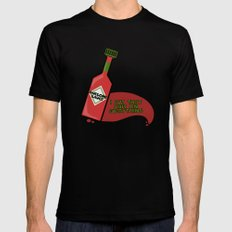 Awesome Sauce I Put That Shit on Everything MEDIUM Black Mens Fitted Tee