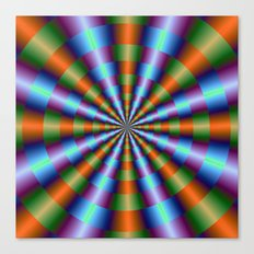 Orange Green Blue and Violet Pleats Canvas Print