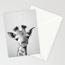 Baby Giraffe - Black & White Stationery Cards