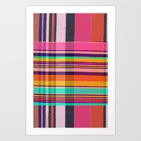 plaid Art Prints featuring Plaid by Love2Snap