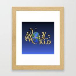 Joy to the World Golden Framed Art Print