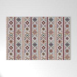 Caucasian Rugs(Stripe) - White Welcome Mat