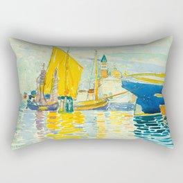Henri-Edmond Cross Neo-Impressionism Pointillism Venice-The Giudecca Watercolor Painting Rectangular Pillow