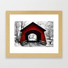 Yachats River Valley Covered Bridge Framed Art Print