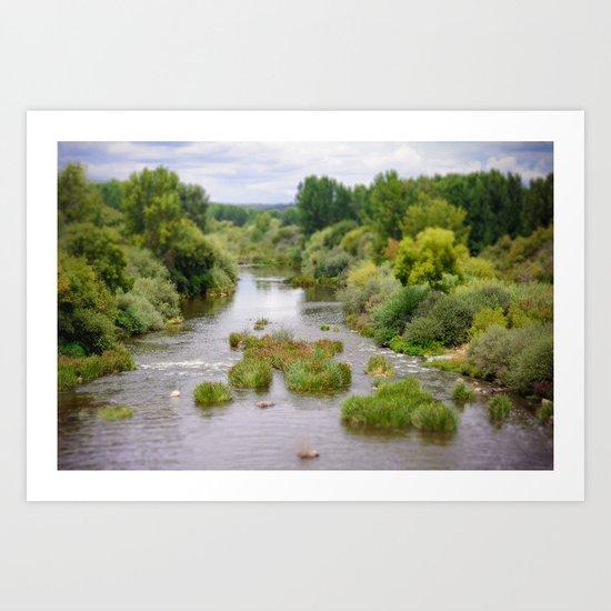 Rivière Art Print