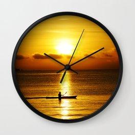 San Francisco Bay Kayak Wall Clock