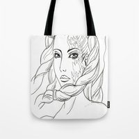 shiva Tote Bags featuring Shiva by Laura Bou