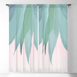 Delicate Agave Fringe Illustration Blackout Curtain
