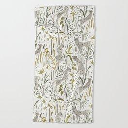 Grey Cheetahs Beach Towel