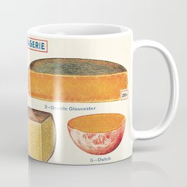 French Cheese Vintage Scientific Illustration Encyclopedia Labeled Diagrams Coffee Mug