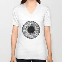 iris V-neck T-shirts featuring Iris by ECMazur