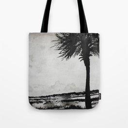 Palm Tree on the Marsh Tote Bag