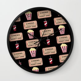 Let's Go to the Movie theatre Wall Clock
