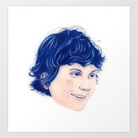 evan peters Art Prints featuring Evan Peters by Sindecualo