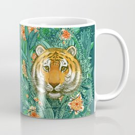 Tiger Tangle in Color Coffee Mug
