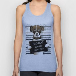 cartoon dog prisoner Unisex Tank Top
