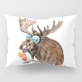 Moose on Vacation Pillow Sham