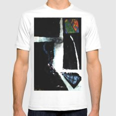 DEATH JESTER White SMALL Mens Fitted Tee