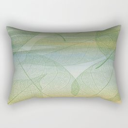 Delicate Painterly Leaves Rectangular Pillow