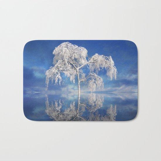 Snowy Winter Tree Bath Mat