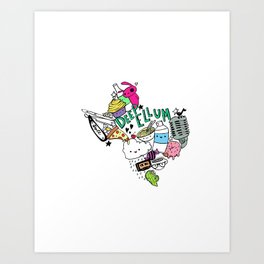 Texas Love Art Print