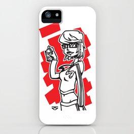 Graffiti Girl (alternative) iPhone Case