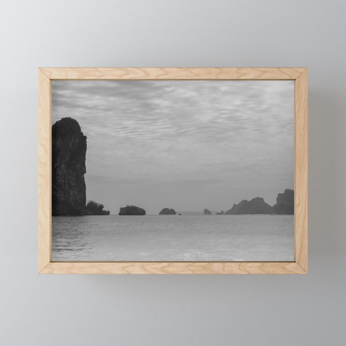 Surreal Foggy Seascape Ha Long Bay Vietnam Framed Mini Art Print By Agnieszkazalewska Society6