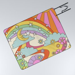 retro hippie boho print  Picnic Blanket