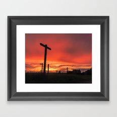 Signs for Sunset Framed Art Print