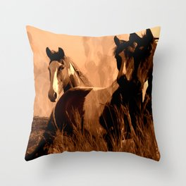 Horse Spirits Throw Pillow