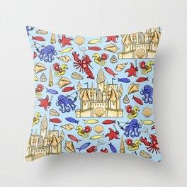 Battle of Ocean's Deep Throw Pillow