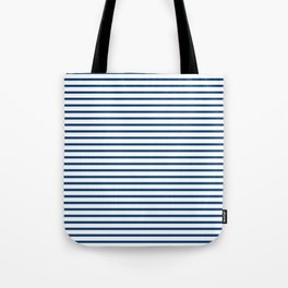 Sailor Stripes Navy & White Tote Bag