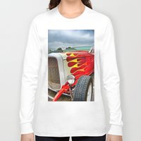 ford Long Sleeve T-shirts featuring 32' Ford by Dave Johnson