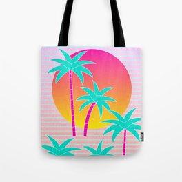 Hello Miami Sunset Tote Bag