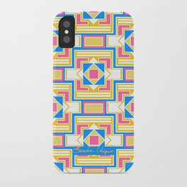 Pink Square World iPhone Case
