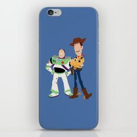 toy story iPhone & iPod Skins featuring toy story by Live It Up