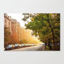 Boston, MA - Commonwealth Avenue Canvas Print