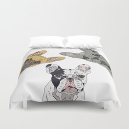 Triple Frenchies Duvet Cover