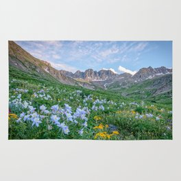 COLORADO HIGH COUNTRY PHOTO -  MOUNTAIN IMAGE - SUMMER WILDFLOWERS PICTURE - LANDSCAPE PHOTOGRAPHY Rug