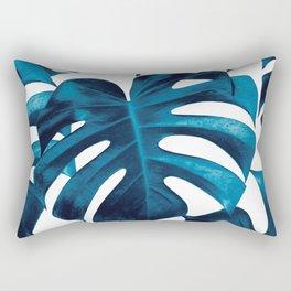Tropical Monstera Leaves Dream #8 #tropical #decor #art #society6 Rectangular Pillow
