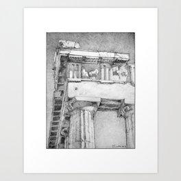 The Northeast Corner of the Parthenon, Athens, Greece Art Print