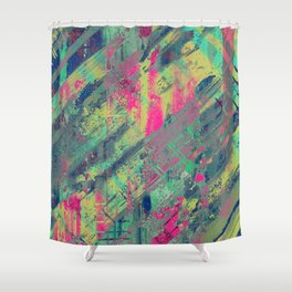 Colour Relaxation - Abstract, textured oil painting Shower Curtain