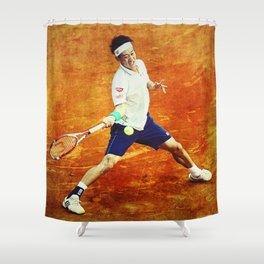 Kei Nishikori Tennis Shower Curtain