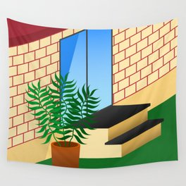 Backyard Wall Tapestry