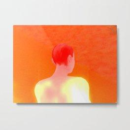 Orange A Metal Print