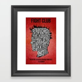 Typography Tyler Durden Uncensored Framed Art Print