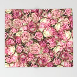 Your Pink Roses Throw Blanket