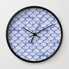 Scalloped Waves Wall Clock