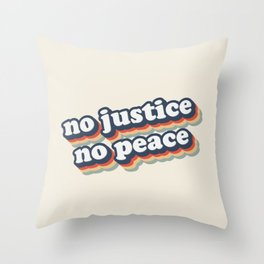 No Justice No Peace BLM 2020 Throw Pillow